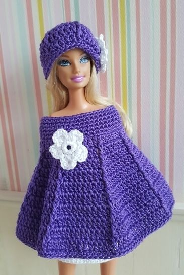 Perce neige - ensemble au crochet - poupée mannequin Barbie