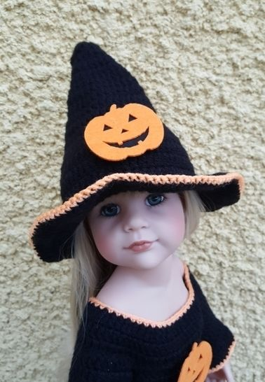 Miss Halloween: crochet outfit for 45-55 cm doll