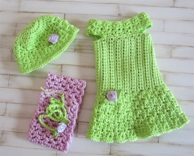 Primrose: crochet outfit for 32-34cm dolls