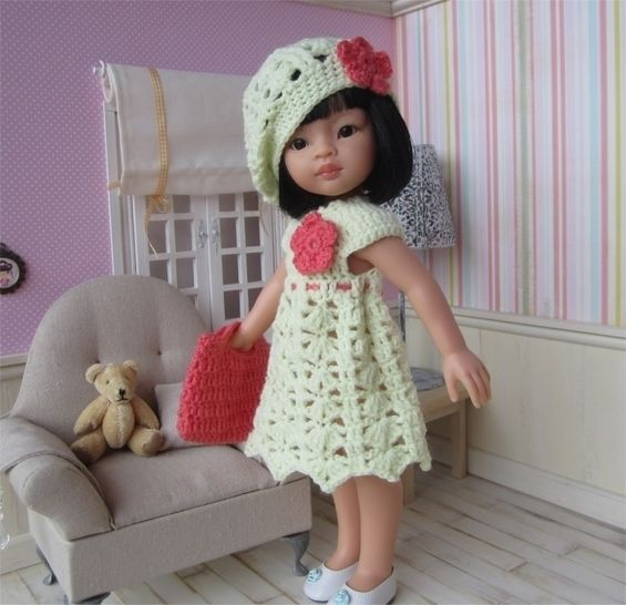 Jeanne : crochet outfit for 32-33 cm doll