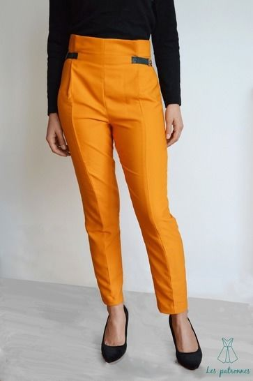 Calder Pants - Women easy trousers with front folds -beginner