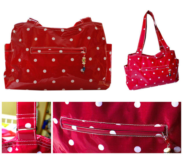 Handbag, Tote sewing pattern, pdf and video tutorial by   Frocks & Frolics