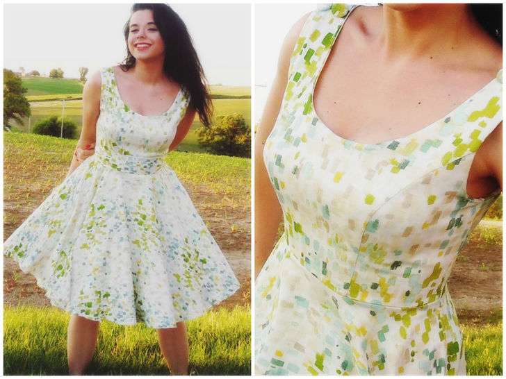 Dress PDF Sewing Pattern (50ies Style)