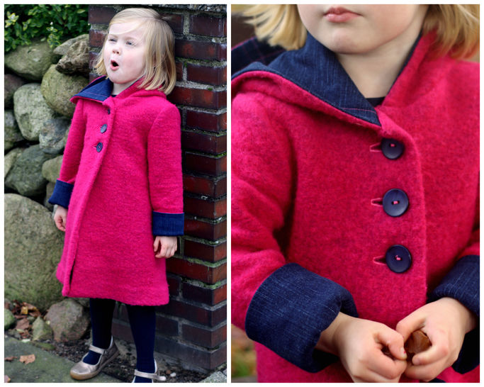 GIRLS COAT SEWING PATTERN, HOODIE JACKET, PEA COAT, WINTER COAT, PDF SEWING PATTERN