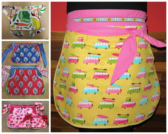 Apron Sewing Pattern, Mummy and Me Country Apron, E-Book and Video Tutorial