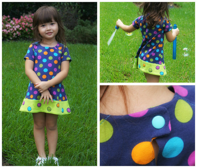 Tunic Dress with Raglan Sleeves for  Jersey