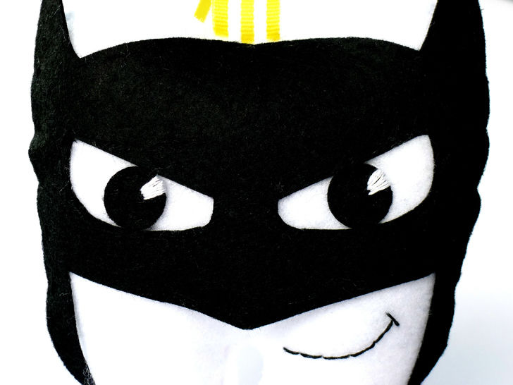 Batman Tooth Pillow  Felt Sewing Pattern
