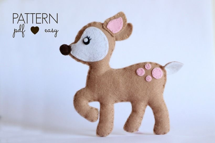 Felt Deer Sewing Pattern