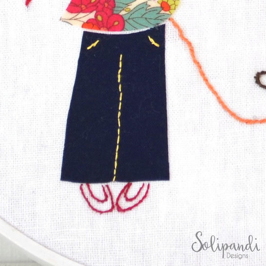 Little girl with dog, Hand Embroidery PDF Pattern - Instant Digital Download