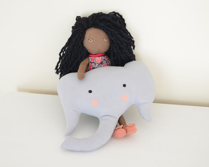 Elephant Pillow Sewing Pattern // Make your own // Toy Pattern // Easy Sewing Pattern