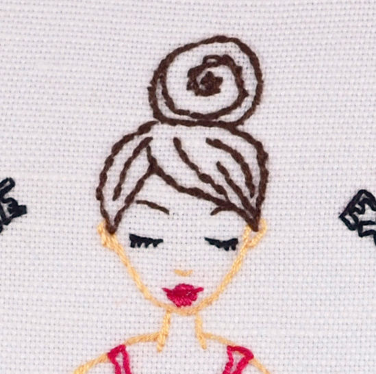 Yoga Girl - Breathe it all in & Love it all out , Meditation, Hand Embroidery PDF Pattern