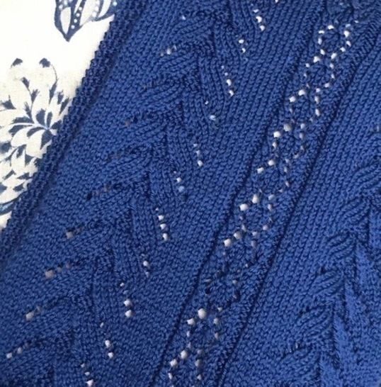 Nell's Brocade Lace Scarf Knitting Pattern