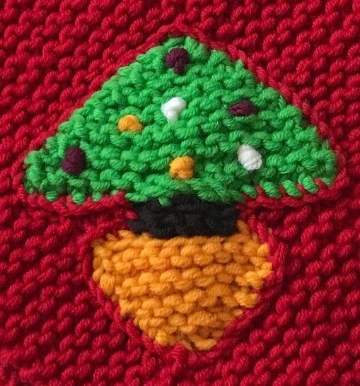 Christmas Tree Triangular Scarf
