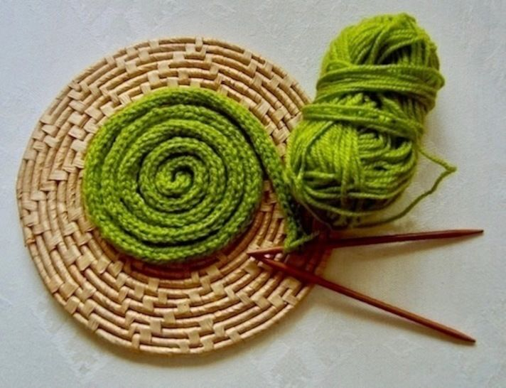 I-cord Coaster for a Pot Plant or Vase Knitting Pattern