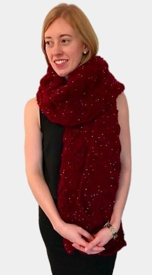 Celestra Christmas Party Wrap Shawl Scarf Knitting Pattern
