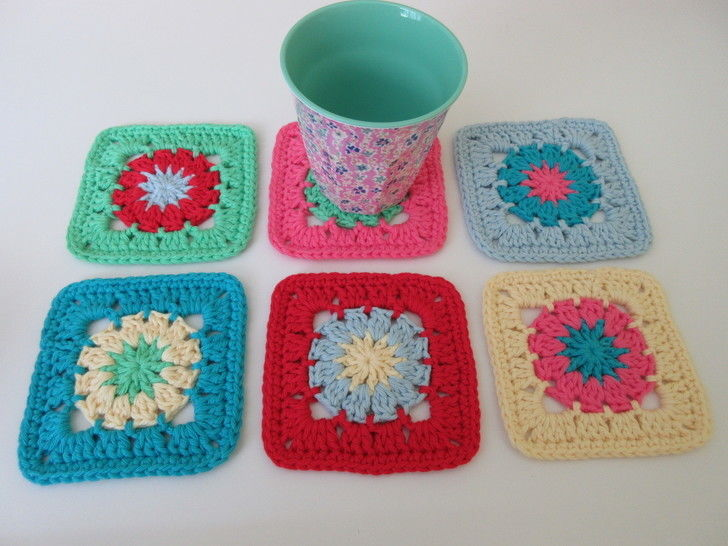 Colourful Coaster Crochet Pattern