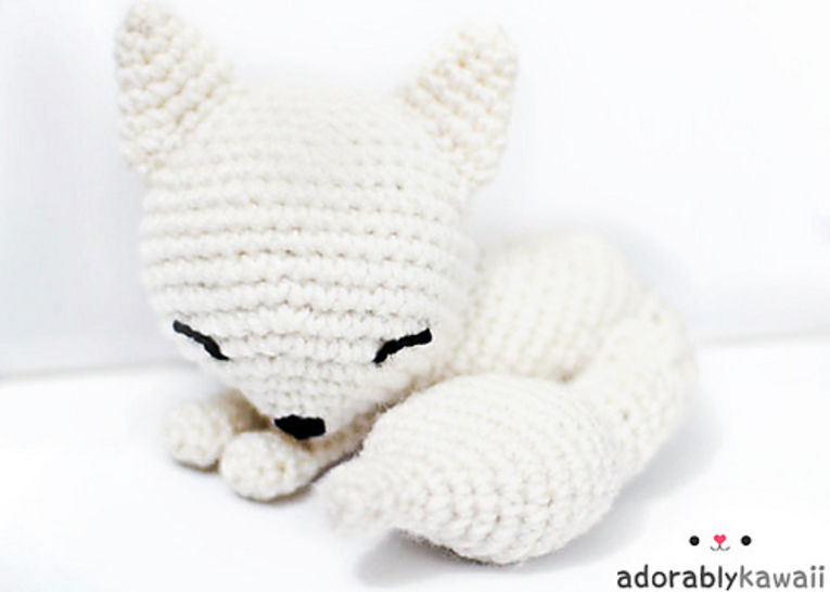 Sleepy Fox Amigurumi Crochet Pattern