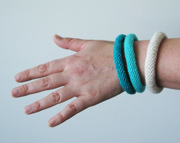 Easy Knitted Bangles