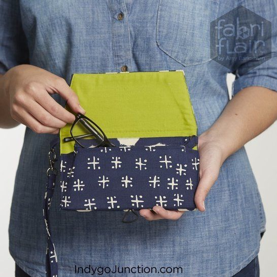 Fabriflair™ Pocketbook Wristlet Digital PDF Pattern — dimensional paper piecing project instructions