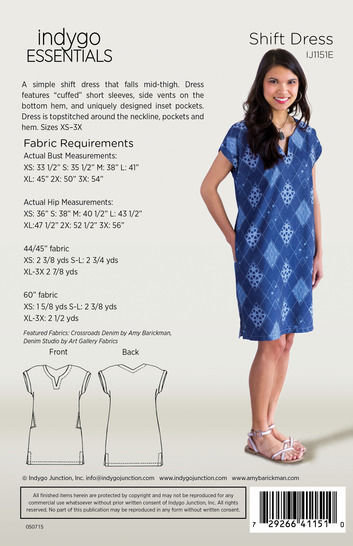Indygo Essentials - Shift Dress