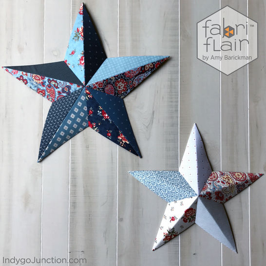Fabriflair™ Wall Art Star Digital PDF Pattern — dimensional paper piecing project instructions and pattern