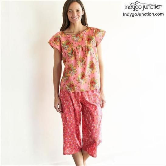 Slumber Party PJs Digital PDF Sewing Pattern - Make with Cotton, Knits, Voiles & More