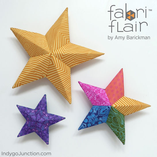 Fabriflair™ Tree Topper & Ornament Digital PDF Pattern — dimensional paper piecing project instructions