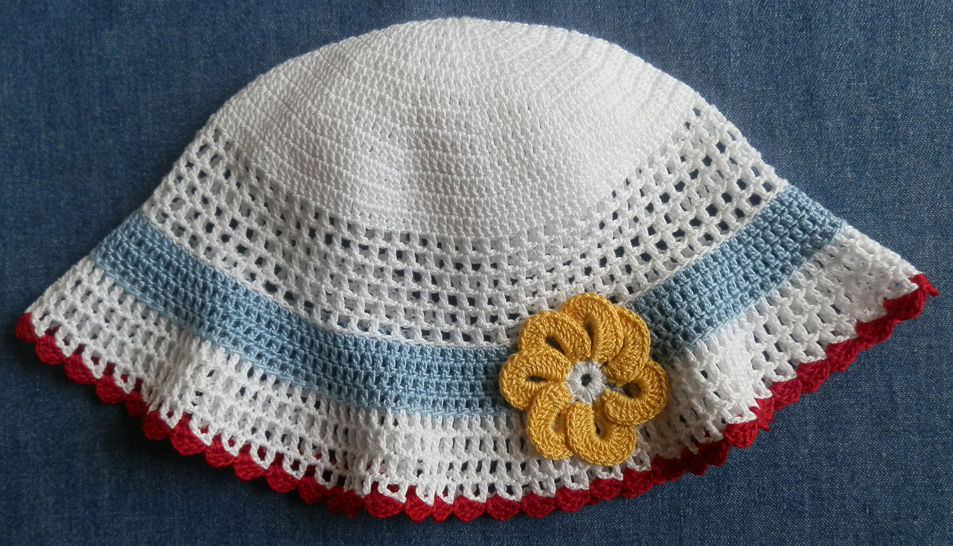 Baby Girl Dress and Sun Hat Crochet Pattern 18-24 months