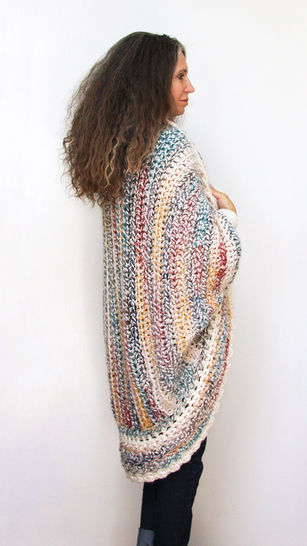 "Crochet Pattern:  ""Luxe Oversized Shrug"""