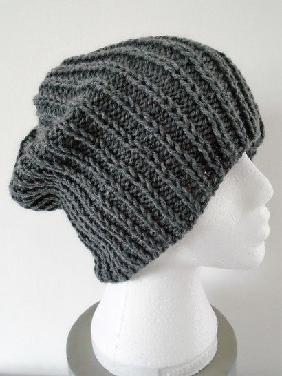 Beanie Hat Knitting Pattern. Unisex.