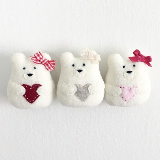 Sweetheart Bear Sewing Pattern - Bear Plush Toy - Christmas Ornament