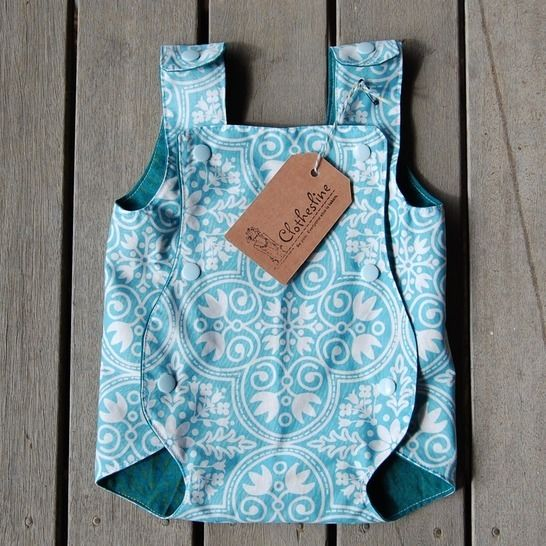 Romper for baby - newborn to 6-12months - Archie Playsuit Easy Sewing Pattern for Beginners - Reversible and designed to be easy to dress baby