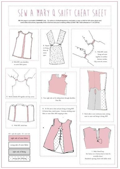 Mary Q Retro Shift Dress Sewing Pattern - Classic 1960s style downloadable pdf - Ladies multisized