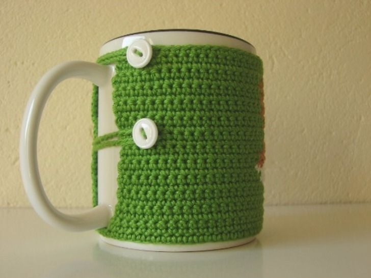 Mug cozy fox - crochet pattern - animal coffee sleeve