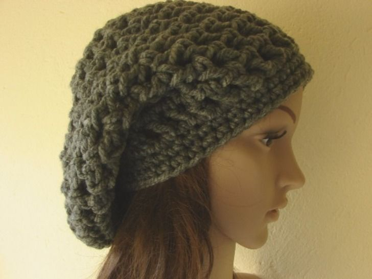 slouchy hat and short scarf super bulky - crochet pattern