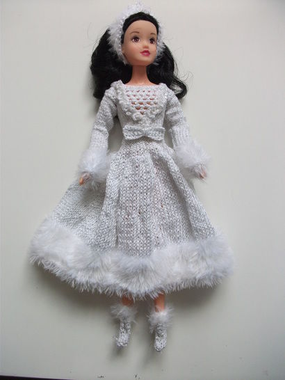 Kaia Winter Princess Pattern for Barbie