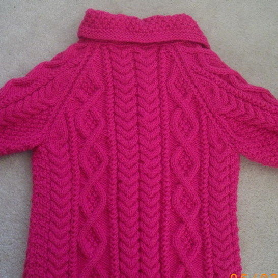 Mairead girls aran coat - knitting pattern
