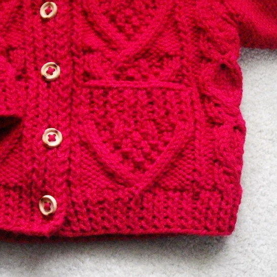 Garrett toddler aran jacket - knitting pattern
