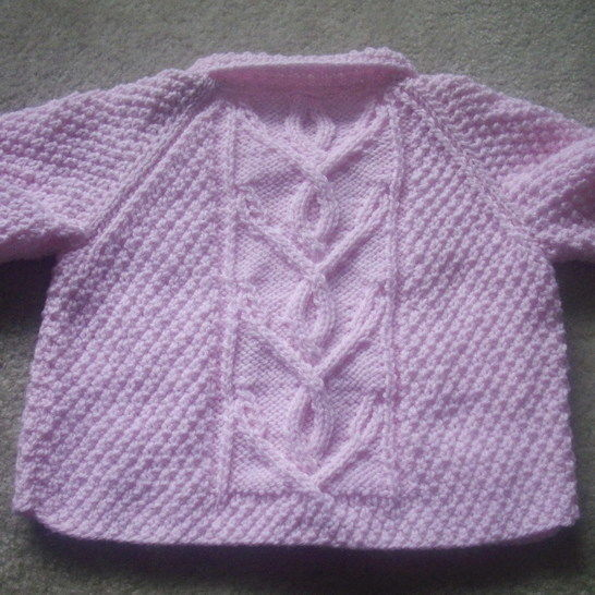 Niamh girls cardigan - knitting pattern