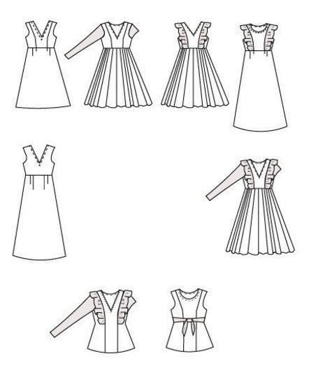 The Flounce Top and Dress PDF Sewing Pattern