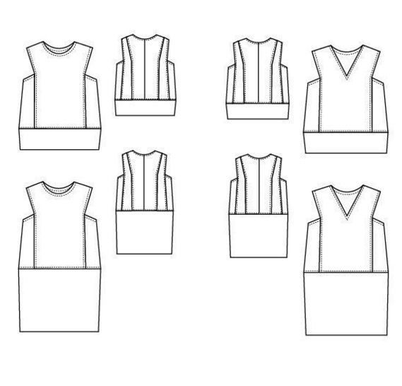 The Belize Top and Dress pattern