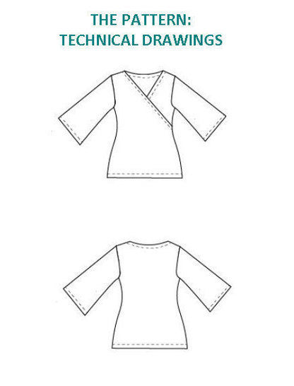 Crossover Top PDF Sewing Pattern and printable tutorial