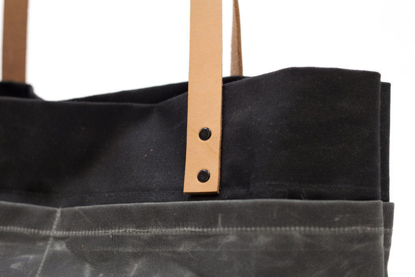 """Canvas  & Leather Tote Bag - Easy to Follow Illustrated Modern Sewing Pattern, """"The Oberlin"""""""