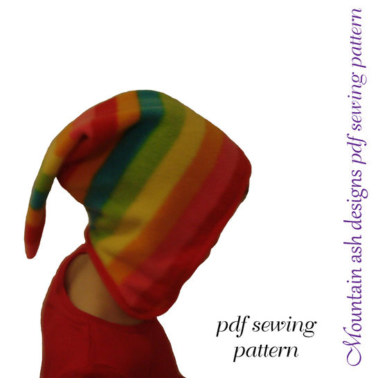 Allie Pixie Hat and Quick Easy Pants Sewing Pattern in Girls Sizes 1-14