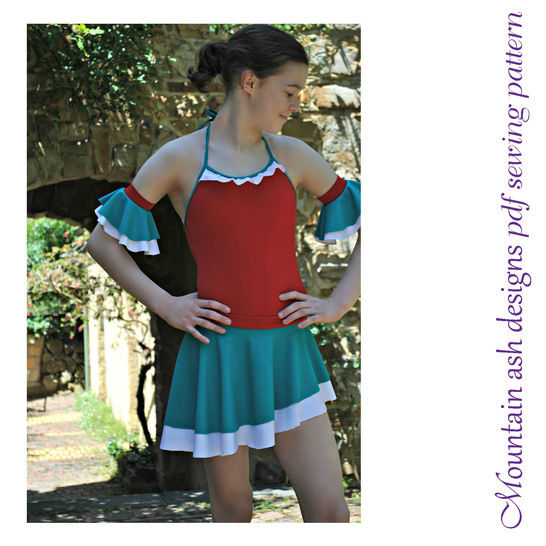 Isadora Dance skirts and Skorts Sewing Pattern in Girls Sizes 2-14
