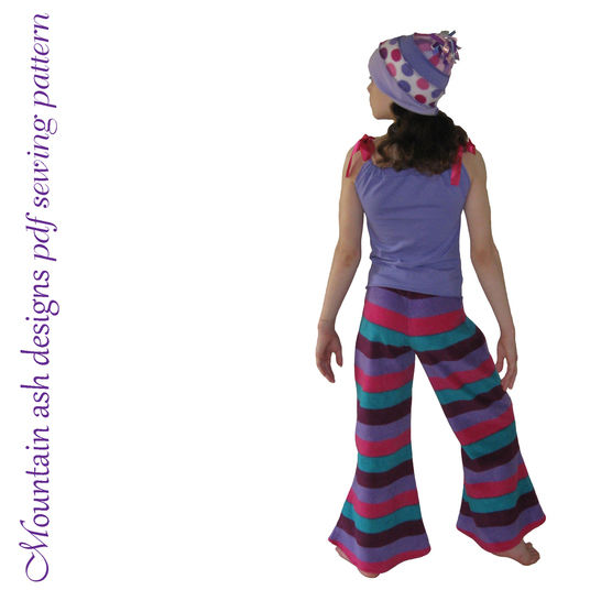 Funky Flares Pants Sewing Pattern in Girls Sizes 2-14