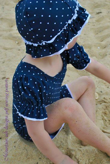 Lola Vintage Swimsuit and Unitard Sewing Pattern in Girls Sizes 2-14