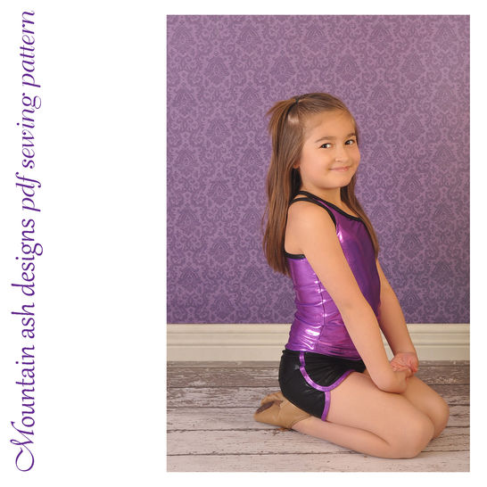 Alana Crop, Tank and Shorts Sewing Pattern in Girls Sizes 2-14