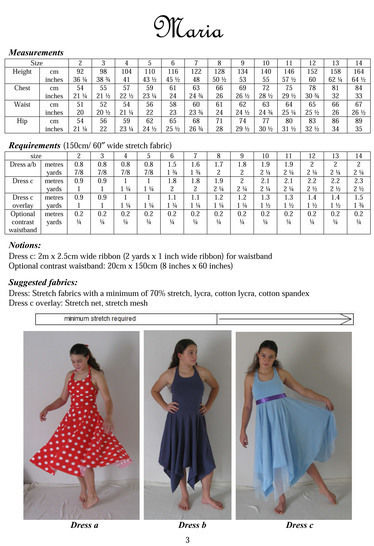 Maria Halter Neck Dress Sewing Pattern in Girls Sizes 2-14