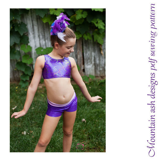 Training Wear Separates #3 Crop and Shorts in Girls Sizes 2-14